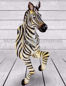 Running Effect Unusual Zebra Design Wall Figure