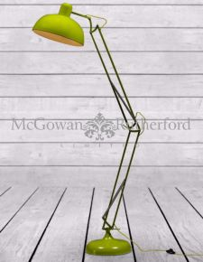 Lime Green Extra Large Floor Lamp (Yellow Fabric Flex)