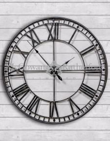 Large Black Skeleton Clock