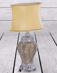 *Carton of 4* Gold Mosaic Lamp Gold Oval Shade