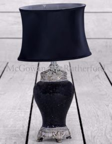 *Carton of 4* Black Mosaic Lamp Black Oval Shade