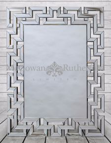 "Large Rectangular ""Grecian Key"" Venetian Mirror"