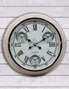 "Cream with White Face ""Dublin"" Multi Dial Wall Clock"