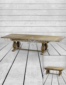 Reclaimed Elm Extending Dining Table..*2 CARTONS*