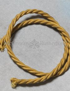 Gold Twist Fabric Flex 3 Core Lighting Wire - 1 Metre Length