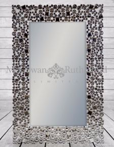 "Rectangular ""Glitz"" Venetian Wall Mirror"