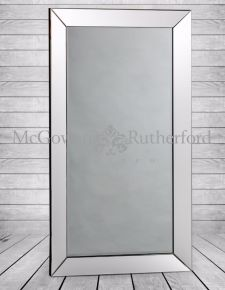 Large Rectangular Mitre Edged Venetian Wall Mirror