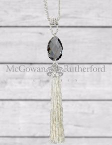 Ivory Glass Drop Tassel