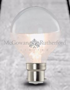LED 3w Large Globe Retro Filament Bulb with Silver Crown (B22 large bayonet)