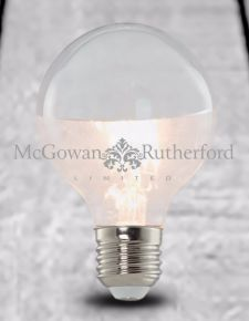 LED 3w Large Globe Retro Filament Bulb with Silver Crown (E27 Large Edison Screw