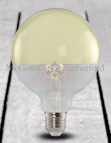 LED 3w Large Globe Retro Filament Bulb with Gold Crown (E27 Large Edison Screw)