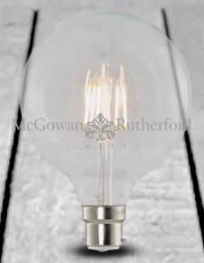 LED 6w DIMMABLE Globe Retro Filament Bulb (B22)