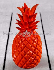 Bright Orange Pineapple Table Decor