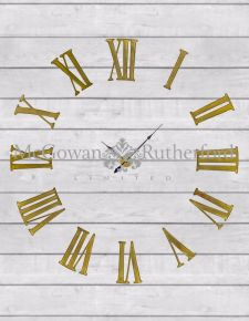 "Antiqued Gold ""Battersea"" Numeral Clock"