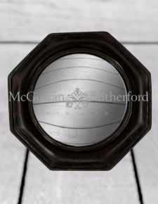 Black Octagonal Framed Convex Mirror