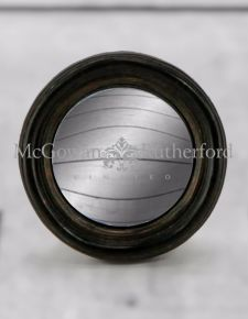 Antiqued Black Thin Framed Extra Small Convex Mirror