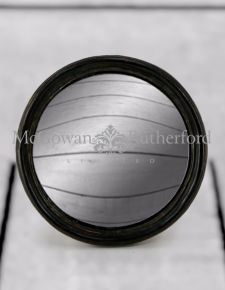Black Thin Framed Medium Convex Mirror