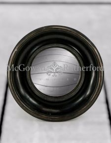 Antiqued Black Deep Framed Small Convex Mirror