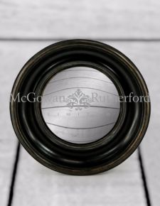 Black Deep Framed Medium Convex Mirror