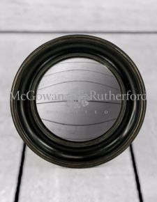Black Deep Framed Large Convex Mirror
