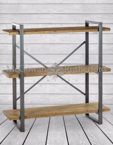 Camden Metal and Wood Shelf Unit