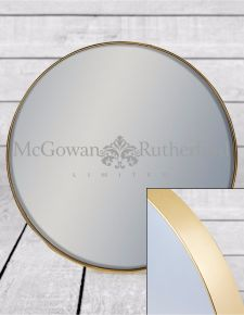 *Carton of 6* Small Round Gold Framed Arden Wall Mirrors