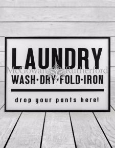 Antiqued Laundry Wall Sign