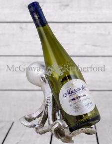 Silver Octopus Wine Bottle Holder