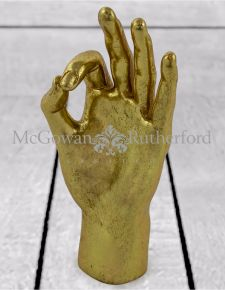 "Gold ""OK"" Hand Figure"