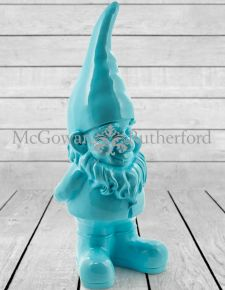 Giant Bright Blue Gnome Figure