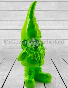 Giant Bright Green Gnome Figure
