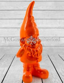 Giant Bright Orange Gnome Figure