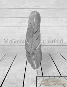 Large Silver Feather Wall Decor