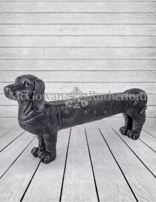 Large Black Dog Bench