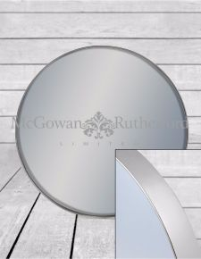 *Carton of 6* Medium Round Silver Framed Arden Wall Mirrors