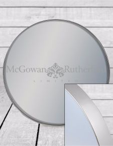 *Carton of 6* Small Round Silver Framed Arden Wall Mirrors