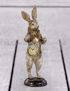 The White Rabbit Standing Clock Figure - Gold