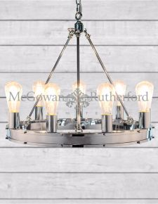 Chrome Round Gallery Chandelier
