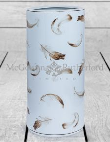 Cream Ceramic Umbrella Stand with Feather Detail