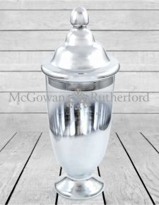 Small Silvered Glass Jar with Lid