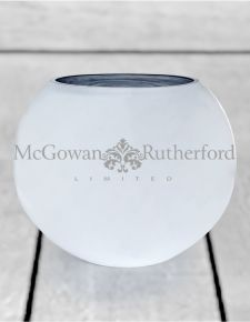 Large Silvered Round Glass Bowl