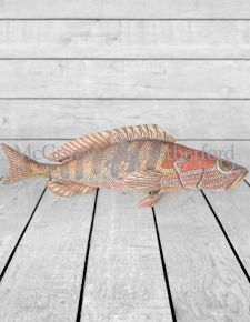 Green/Red Fish Cushion