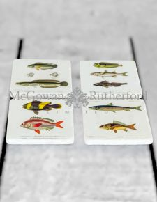 Set of 4 Fish Design Coasters
