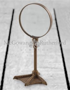 Bronze Bird Leg Table Magnifying Glass