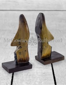 Antiqued Wood Effect Shoe Last Pair of Bookends/Ornaments