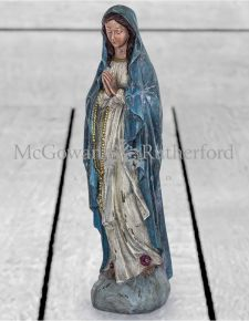 Antiqued Praying Maria Figure