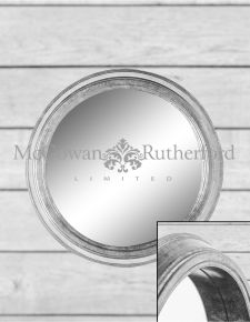 *Carton of 2* Large Silver Round Metal Wall Mirrors