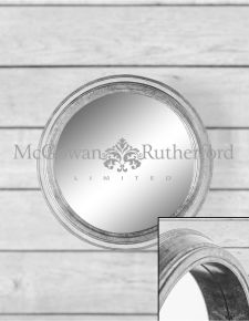 *Carton of 4* Small Silver Round Metal Wall Mirrors
