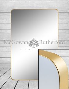 *Carton of 4* Large Rectangular Gold Framed Arden Wall Mirrors