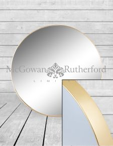 *Carton of 4* Large Round Gold Framed Arden Wall Mirrors
